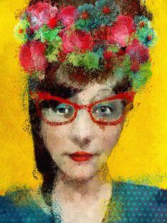 The red glasses by Sarah Jarrett