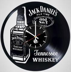 Jack Daniel's Old Time Handmade Vinyl Record Wall Clock - VINYL CLOCKS