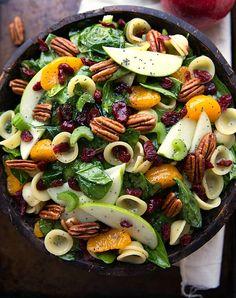 STYLECASTER | Comforting Fall Salads | Autumn Crunch Pasta Salad