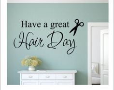 Hairdresser Wall Decal Hair Salon Decal by RunWildVinylDesigns