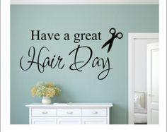 Hairdresser Wall Decal Hair Salon Decal by RunWildVinylDesigns