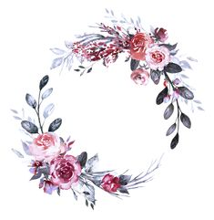 Фото, автор ✿Lili@ ✿ на Яндекс.Фотках Floral Wreath Watercolor, Watercolor Flowers, Flower Backgrounds, Wallpaper Backgrounds, To Do Planner, Scrapbook Background, Wedding Painting, Illustration Blume, Story Instagram