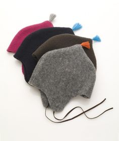 wool hats - use old felted sweaters