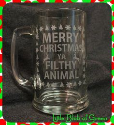 Merry Christmas You Filthy Animal - Home Alone by LittleBlobOfGreen, $12.00