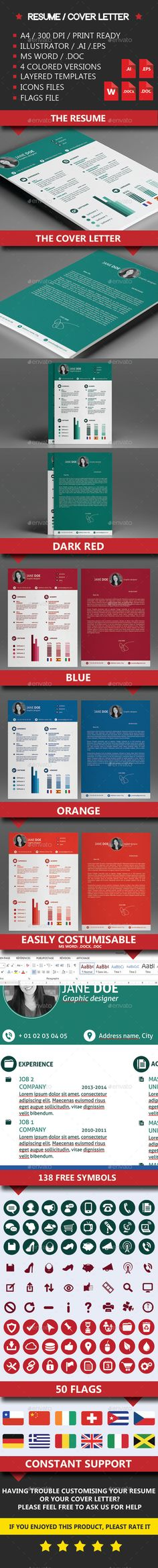 Creative Resume Template-V16 Creative resume templates, Creative - corporate resume template