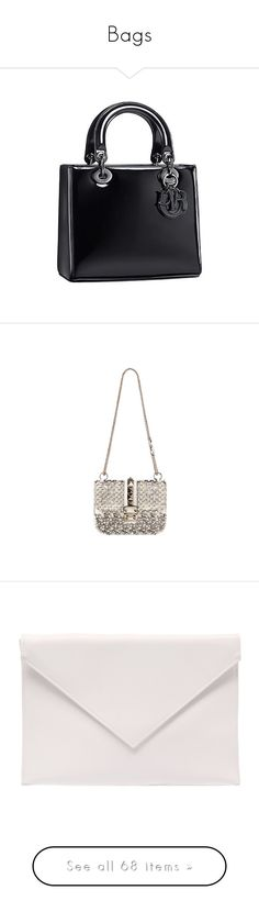 """""""Bags"""" by alina-chipchikova ❤ liked on Polyvore featuring bags, dior, handbags, valentino, borse, valentino bag, valentino handbags, valentino purses, clutches and purses"""
