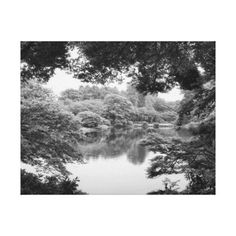 #Black and white cool unique nature and lake canvas print - #travel #art