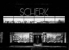 Berlin, Parfümerie Scherk 1927 bei Nacht, Otto Rudolf Salvisbery.