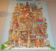 """""""Novelty"""" or humorous Jigsaw Puzzles - a la """"Verticalville"""" 1977...ooooh, this could be fun!"""