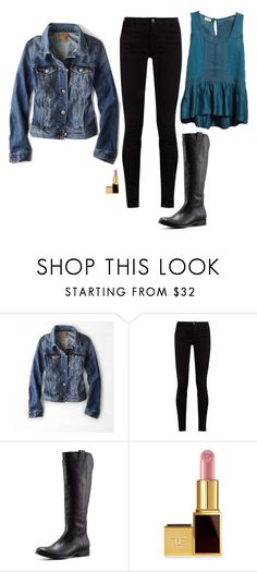 """""""Caroline Forbes Inspired Outfit"""" by daniellakresovic ❤ liked on Polyvore featuring American Eagle Outfitters, Gucci, Frye and Tom Ford"""