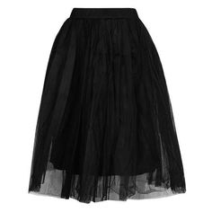 Layered Tutu Midi Skirt by Rare ($52) ❤ liked on Polyvore featuring skirts, black, юбки, mid calf skirts, high rise skirts, calf length skirts, tutu skirts and high-waisted skirts