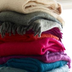 Stylebeat's @Marisa Marcantonio is loving our soft and fuzzy Mohair Throws!