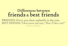 Friend vs best friend @Mackenzie Shelton
