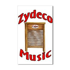 Zydeco Washboard Rectangle Sticker
