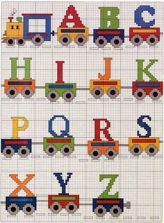 Thrilling Designing Your Own Cross Stitch Embroidery Patterns Ideas. Exhilarating Designing Your Own Cross Stitch Embroidery Patterns Ideas. Cross Stitch Letters, Cross Stitch Baby, Cross Stitch Charts, Cross Stitch Designs, Cross Stitch Train, Diy Embroidery Machine, Embroidery Patterns, Stitch Patterns, Hand Embroidery