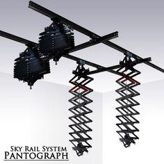 Photo Studio Lighting Sky Rail System Pantograph Ceiling Sliding Rail Kit NEW. $299 on ebay