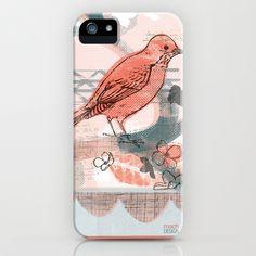 Spring Bird iPhone & iPod Case by MSCH Design / Michelle Schwartzbauer  - $35.00 #bird #pattern #surface #design #illustration #product #gift