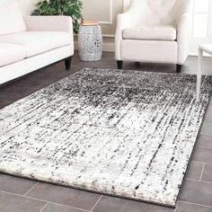 Safavieh Retro Elsie Power Loomed Area Rug, Black and Light Grey - Walmart.com