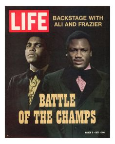 Boxers Muhammad Ali and Joe Frazier - March 5, 1971