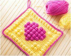 Booble Heart Square Crochet Tutorial – NatureRelated