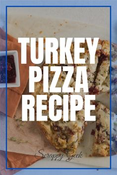 Turkey Pizza Recipe! Make this with leftover turkey from Thanksgiving! #thanksgivingleftovers #turkey #pizza #turkeypizza #thanksgiving #turkeydinner #dinner #pizzatime #letseat Thanksgiving Leftover Recipes, Thanksgiving Leftovers, Leftover Turkey, Holiday Recipes, Entree Recipes, Pizza Recipes, Appetizer Recipes, Turkey Pizza, Crescent Roll Pizza