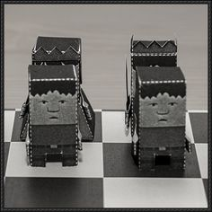 Chessmen Cube Craft Free Paper Toy Download - http://www.papercraftsquare.com/chessmen-cube-craft-free-paper-toy-download.html