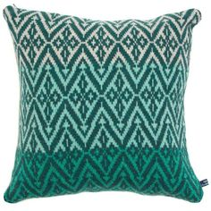 Katie Victoria - Moroccan Block Cushion Green (150 BAM) ❤ liked on Polyvore featuring home, home decor, throw pillows, inspirational throw pillows, inspirational home decor, green accent pillows, green toss pillows and knit throw pillow