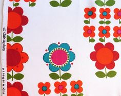modflowers: dekoplus fabric from the collection of Jane Foster