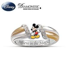 Disney The Magic Of Mickey Womens Ring Disney Rings, Disney Jewelry, Mickey Mouse Jewelry, Disney Mickey Mouse, Minnie Mouse, Estilo Disney, Silver Jewelry Cleaner, Mens Silver Necklace, Silver Earrings