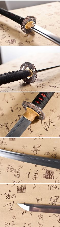 hand forged full tang damascus steel blade Katana