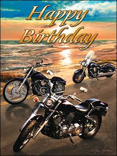 Birthday Card - Cruising into another exciting year! Happy Birthday Harley Davidson, Happy Birthday Biker, Motorcycle Birthday, Happy Birthday Vintage, Funny Happy Birthday Wishes, Happy Birthday Pictures, Happy Birthday Greetings, 21 Birthday, Thing 1