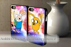 Adventure Time Finn and Jack in Nebula Galaxy Couple by PorTuAmorz, $32.00