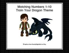 This fun themed matching games has your students matching the numeral and the word to the number of characters.  They count, identify the correct numeral, and read the word as well.  All great practice while they're having fun.  Two suggested activities are included.