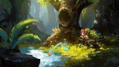 pokemon game concept, Shen YH on ArtStation at https://www.artstation.com/artwork/4JAvL