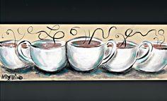 Make the steam spell coffee....