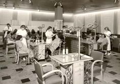 1950 opening day of The Shergis Salon in John Martins Department Store ...Rundle Mall. Adelaide. South Australia..
