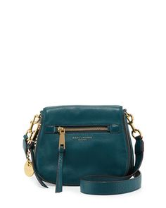 Recruit+Small+Saddle+Bag,+Teal+by+Marc+Jacobs+at+Neiman+Marcus.