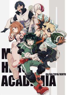 Boku no Hero Academia | Midoriya Izuku, Bakugou Katsuki, Uraraka Ochako, Todoroki Shouto, & Iida Tenya