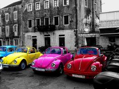 VW Bug. Colorful. When your Design Your Mats at GGBailey.com you can make your car floor mats match any paint job.