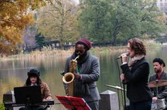 Andre Pivec, Jason Marshall And Haley Gardner At Jazz And Colors In Central Park  Copyright © Dave Kaufman.