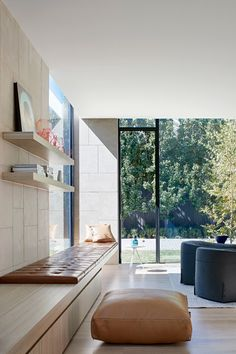 The Pavilion House by Robson Rak - Past & Present in Architectural Form - The Local Project Room Interior, Interior And Exterior, Interior Design, Window Seat Storage Bench, Living Area, Living Spaces, Living Room, Victoria House, Design Salon