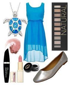 """""""Blue Turtle"""" by jadepike17 ❤ liked on Polyvore featuring La Preciosa, Forever 21, Max Factor, NARS Cosmetics, L'Oréal Paris and Gucci"""
