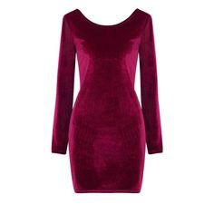 Yoins Yoins Burgundy Velvet Body-Conscious Dress ($16) ❤ liked on Polyvore featuring dresses, burgundy, purple velvet dress, body conscious dress, velvet bodycon dress, bateau neckline dress and boat neckline dress