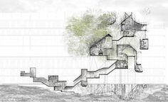 An Ideal Reality - Nostalgia for the future.  Yue-Ying Tan.  2012. pen and ink, charcoal, digital media.