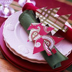 Craft no-fuss holiday decorations for less | Cut out a napkin ring | AllYou.com