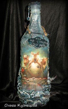 декупаж бутылки Chapa96
