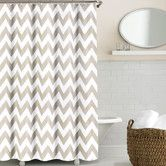 Found it at Wayfair - Chevron Shower Curtain - comes in both gray and taupe (pictured)