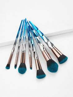 Ombre Griff Make-up Pinsel -SheIn (Sheinside) - Ombre Griff Make-up Pinsel -SheIn (Sheinside) Informationen zu Ombre Handle Makeup Brush - - Make Up Kits, Make Up Geek, Best Makeup Brushes, Makeup Brush Set, Best Makeup Products, Beauty Products, Make Up Brush, Blaues Make-up, Oil Makeup Remover