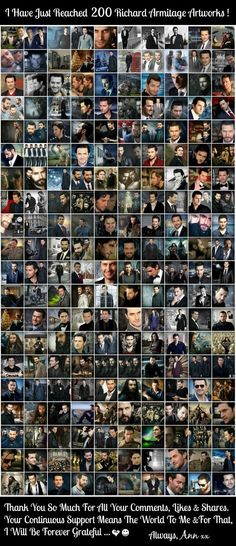 Ann celebrates 200 edits featuring the one and only - Richard Armitage ❤