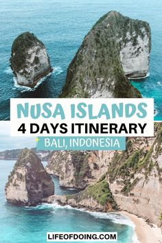 Head to Nusa Islands for 4 days for a quick getaway from Bali, Indonesia. Check out this ultimate Nusa Islands travel guide on the top things to do on Nusa Islands, where to stay, and more! 4 days Nusa Islands itinerary | Things to do in Nusa Penida | Things to do in Nusa Lembongan | Things to do in Nusa Ceningan | Nusa Islands bucket list | Nusa Islands travel tips | Nusa Islands photography | Pretty places to visit on Nusa Islands | Nusa Islands map | Nusa Islands from Bali #LifeOfDoing Bali Travel Guide, Travel Guides, Travel Tips, Time Travel, Travel Destinations, Vietnam Travel, Asia Travel, Nusa Ceningan, Japanese Travel